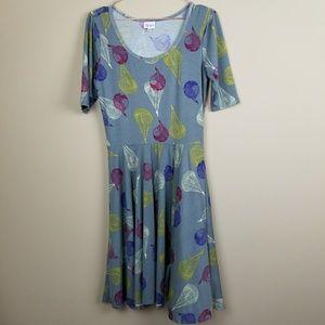 Lularoe Parachute Nicole Dress Size Medium